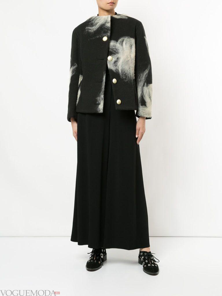 весенняя асимметричная куртка с изображением