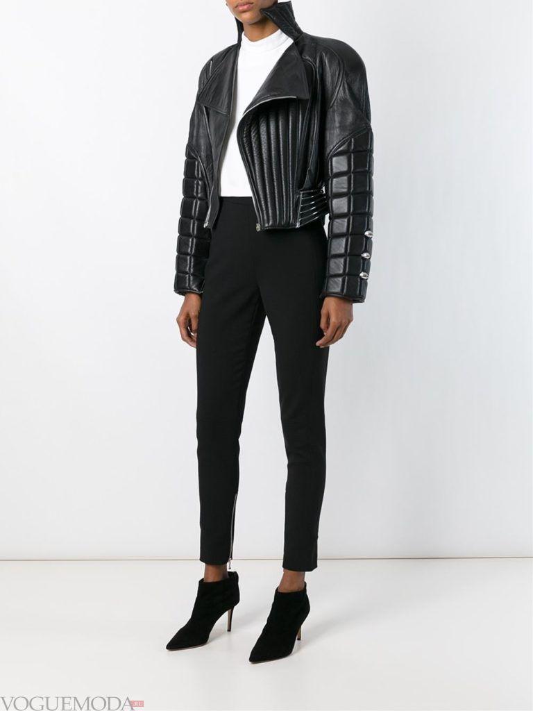 стеганая куртка темная