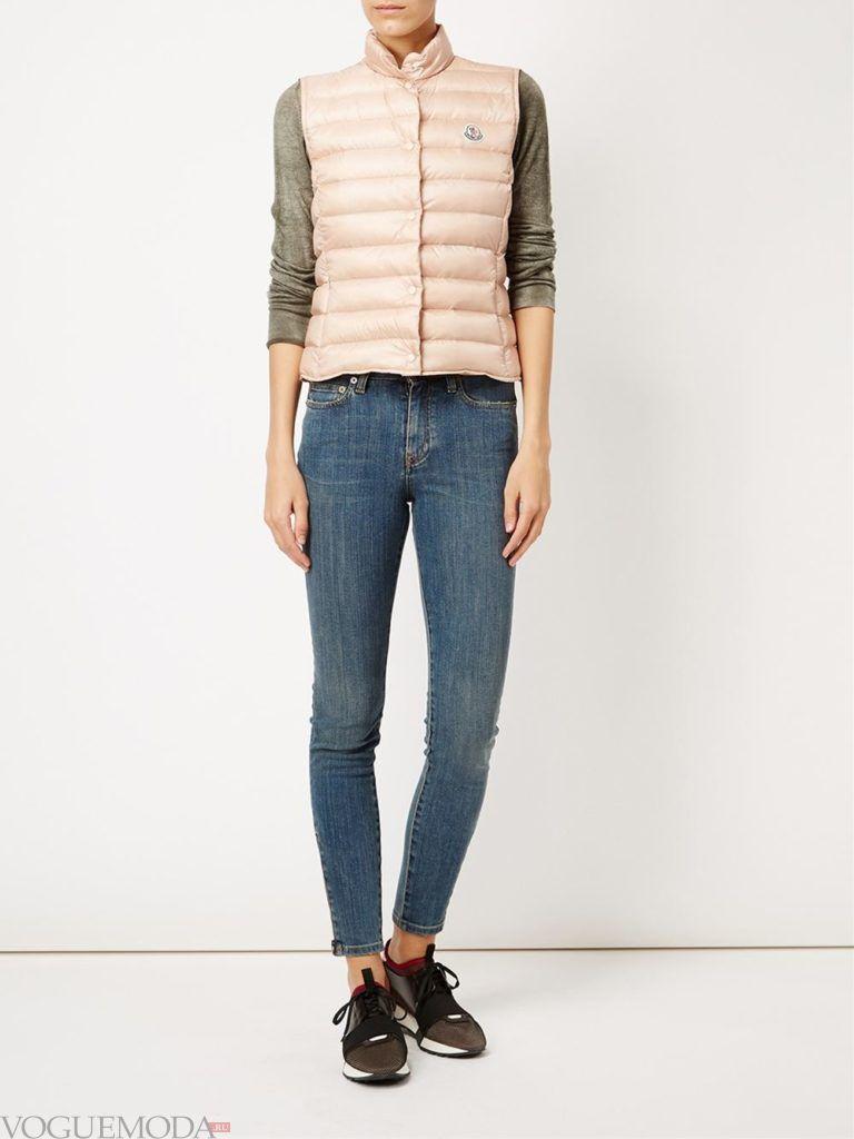 куртка без рукавов розовая