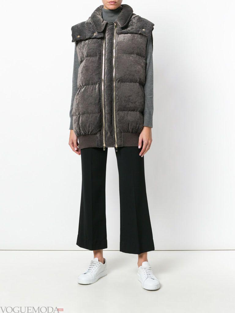 куртка без рукавов бархатная