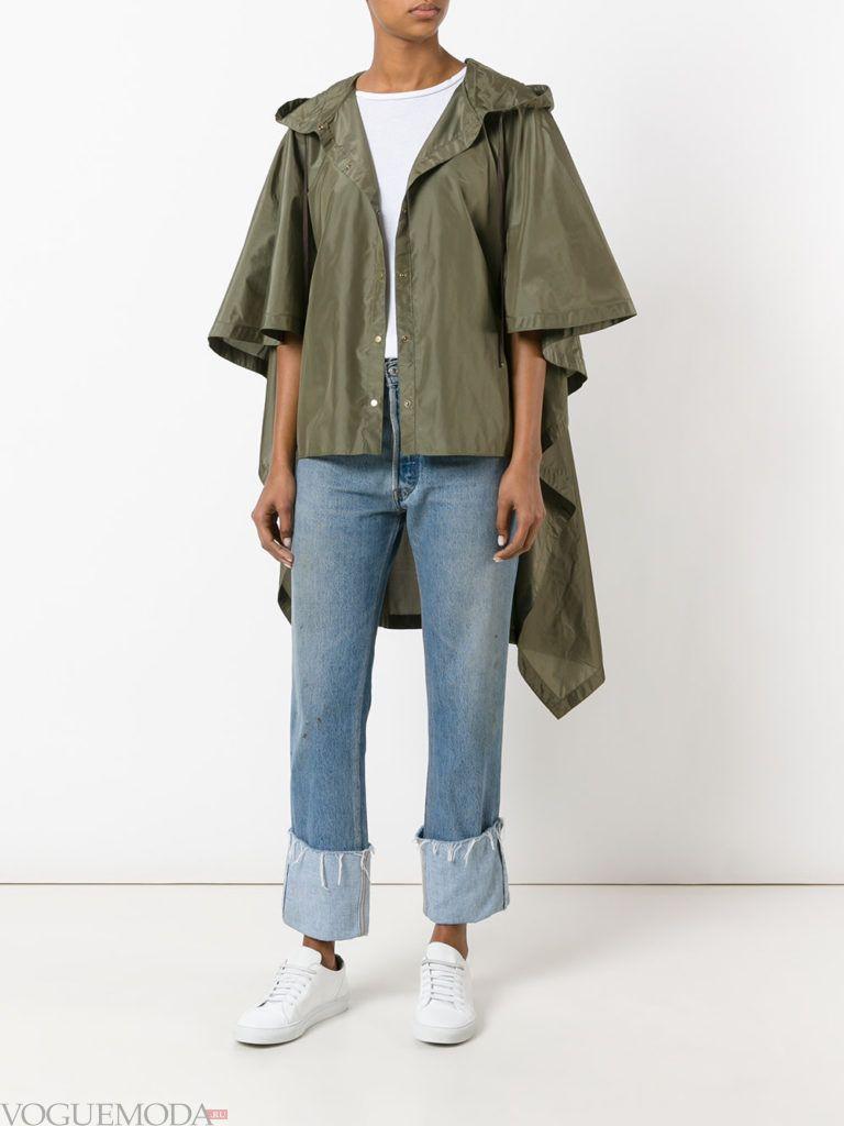 весенняя асимметричная куртка зеленое