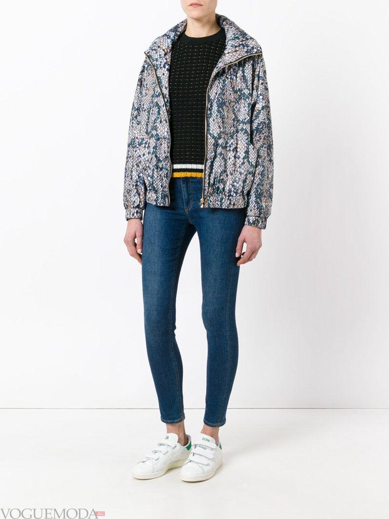 куртка-ветровка с принтом