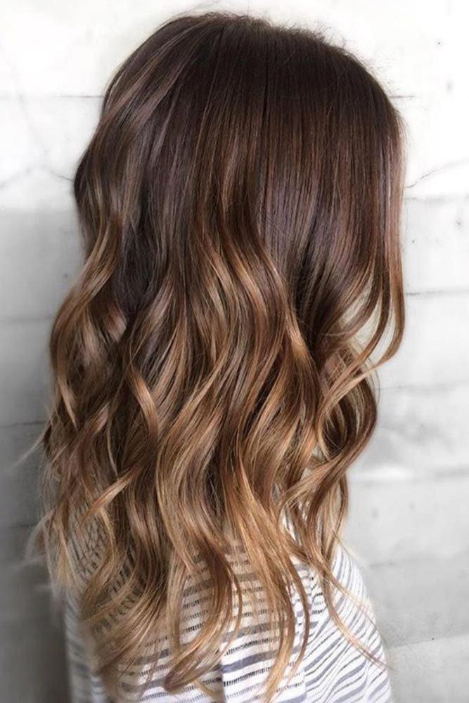 окрашивание 2018 омбре на средние каштановые волосы женские