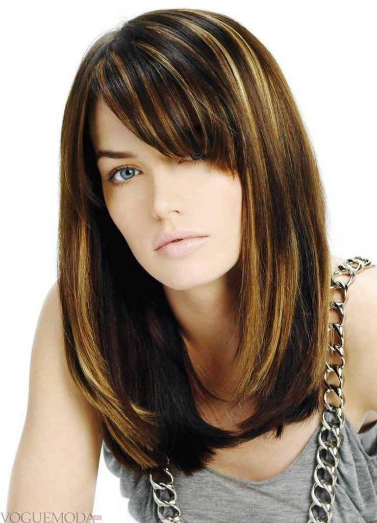 мелирование на средние волосы модное