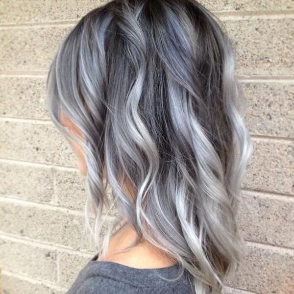 мелирование на средние волосы цветное