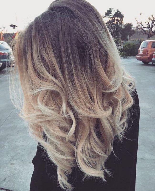 окрашивание 2018 омбре на средние волосы женские светлое