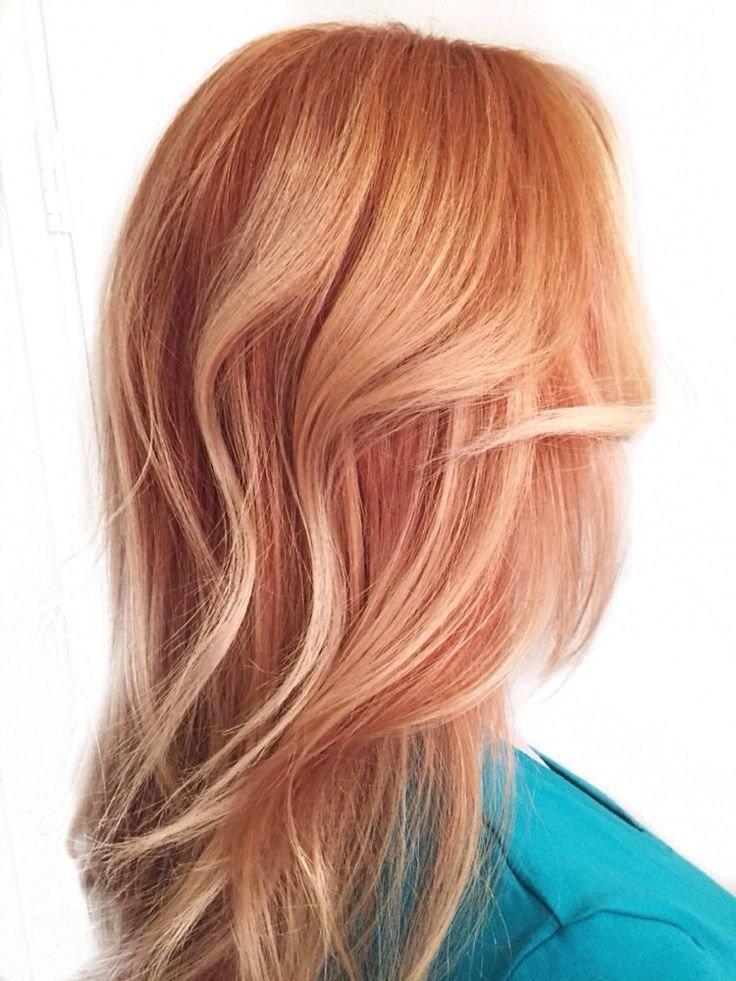оттенок «клубничная» блондинка розовый