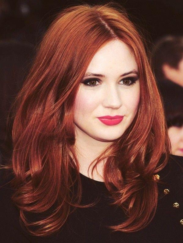 рыжий насыщенный оттенок на средние волосы