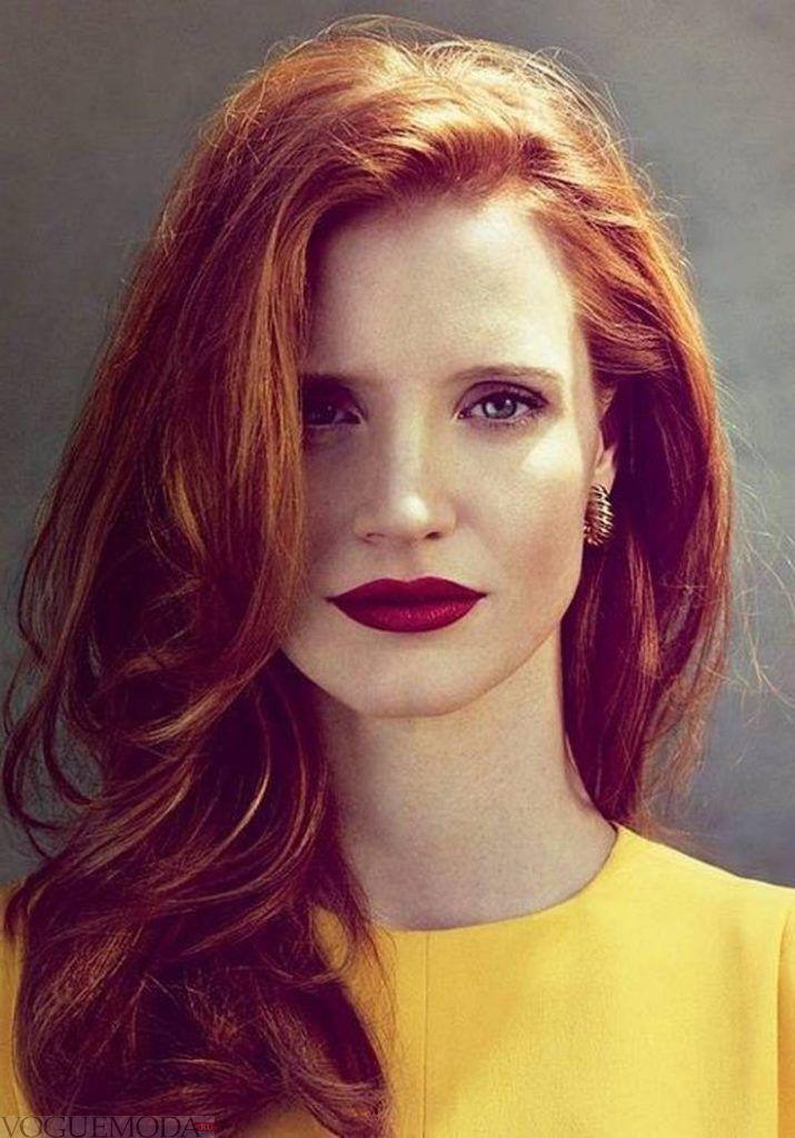 рыжий цвет волос приглушенный