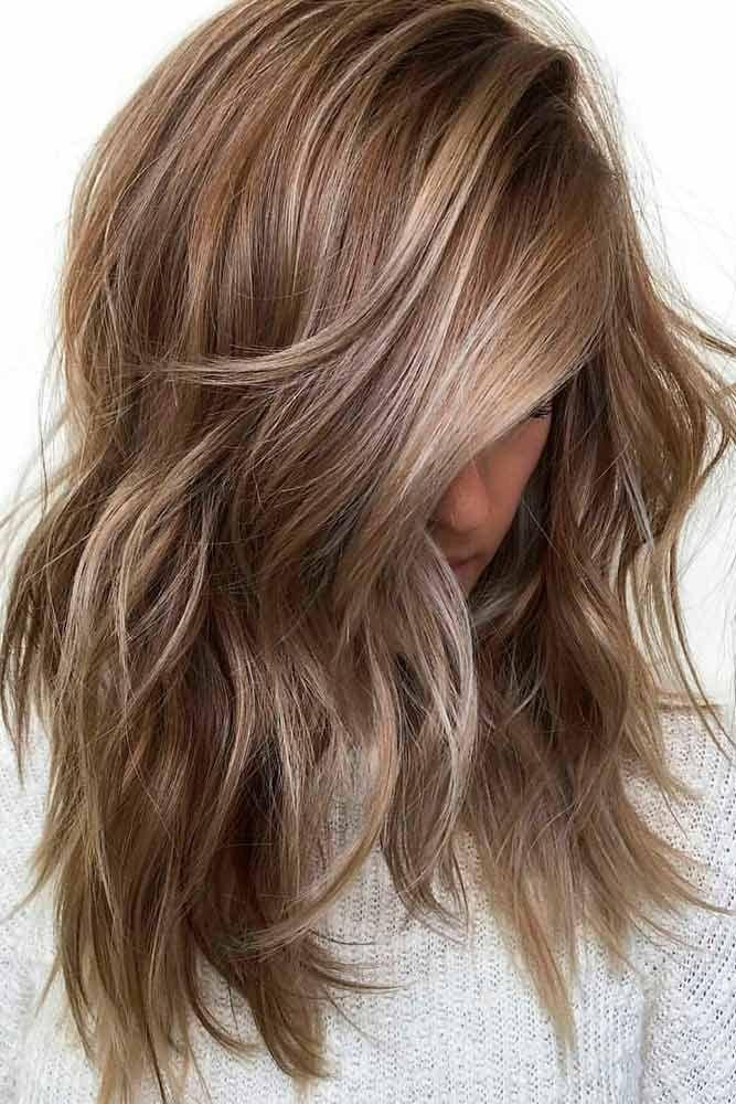 окрашивание на средние волосы мокко