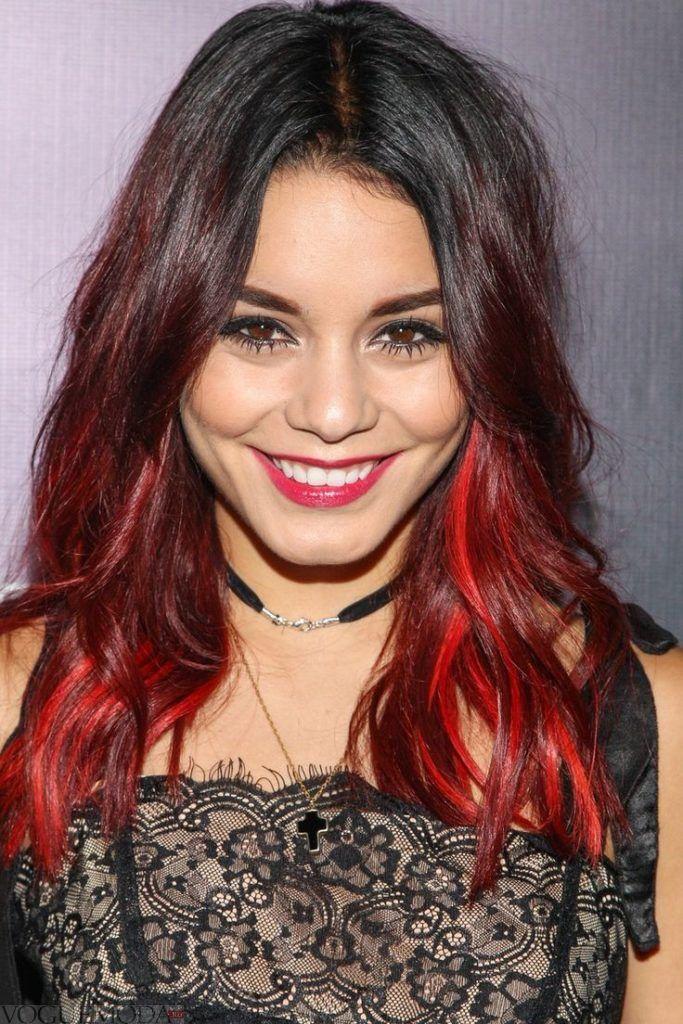 окрашивание 2018 омбре на средние волосы женские красное