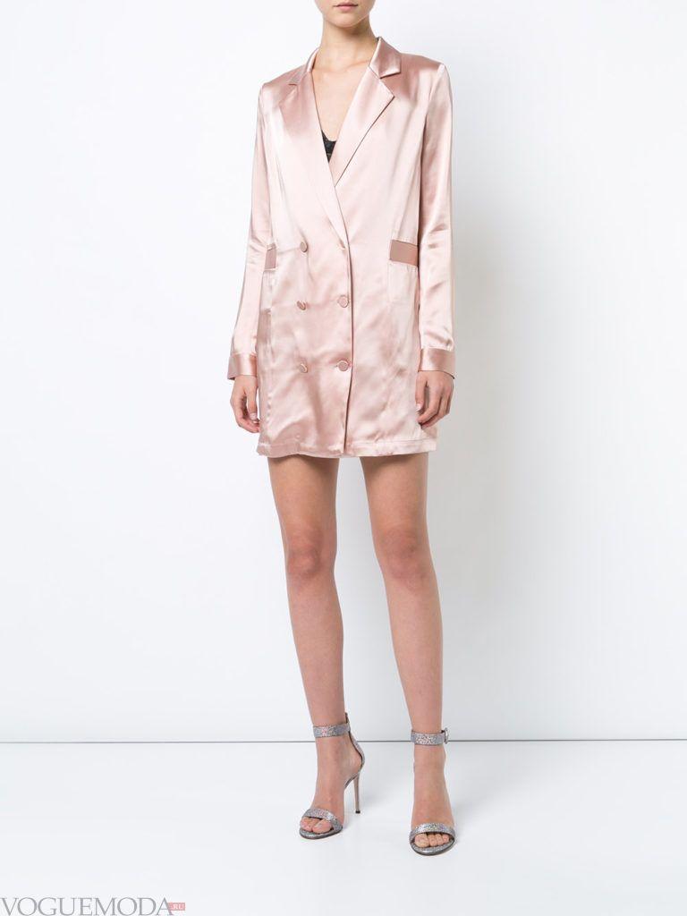 платье-пиджак светлое