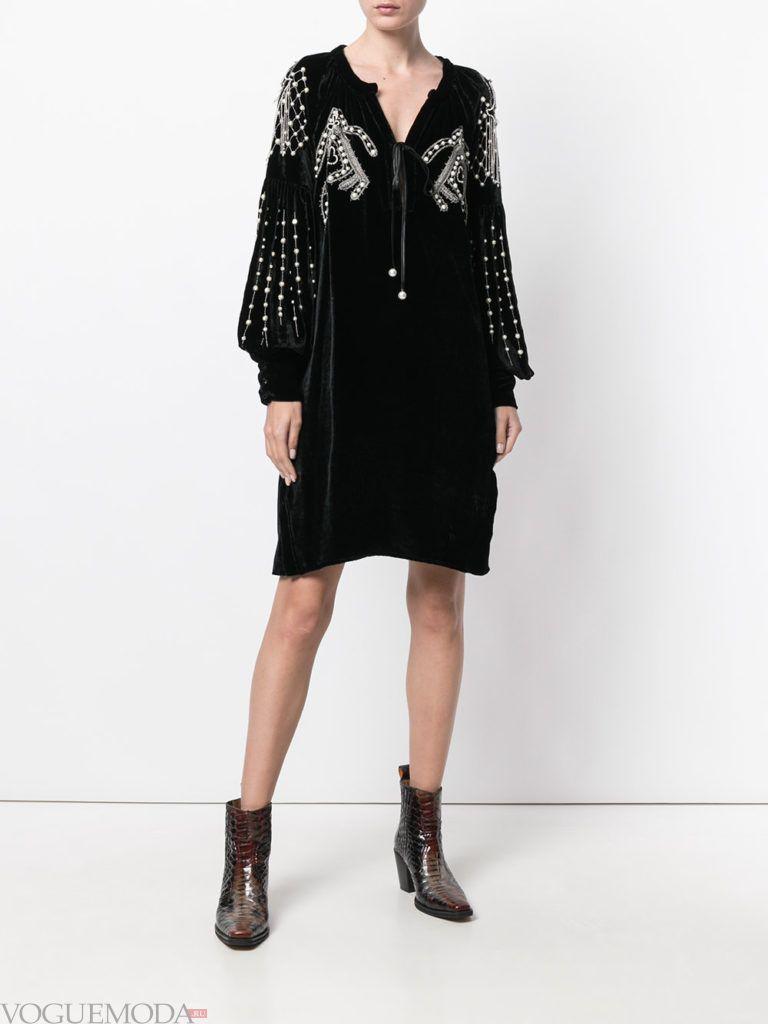 офисное платье-рубашка черное