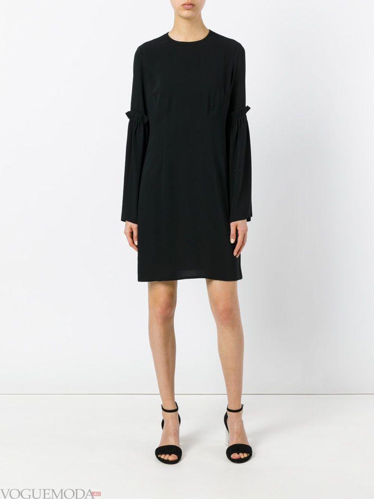 деловое офисное платье черное