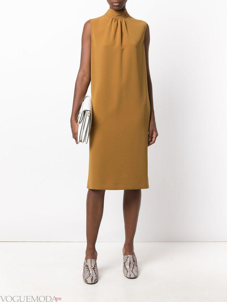 деловое офисное платье модное