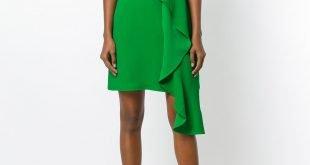 офисное платье без рукавов зеленое