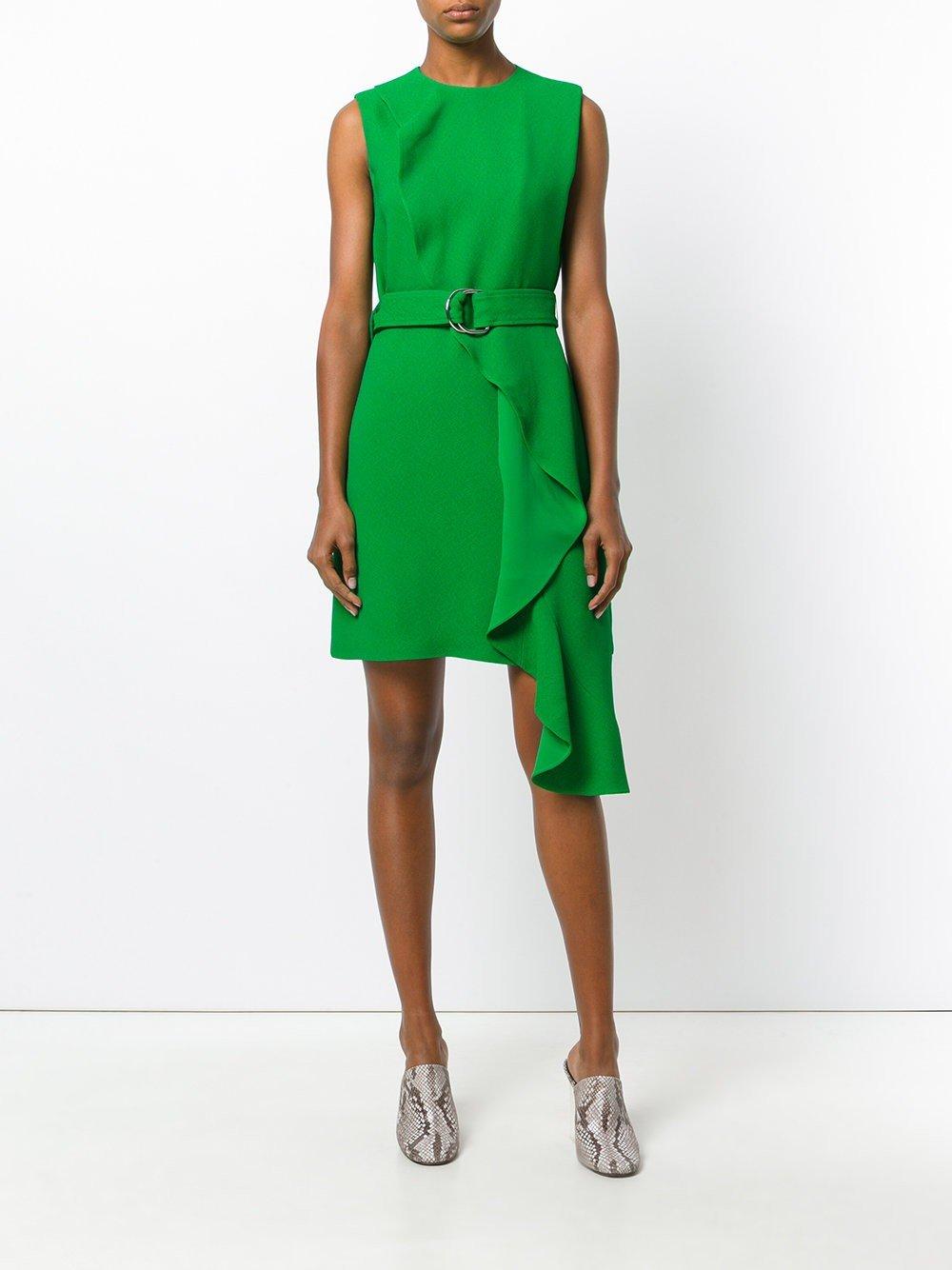 1253b5546f8 офисное платье без рукавов зеленое