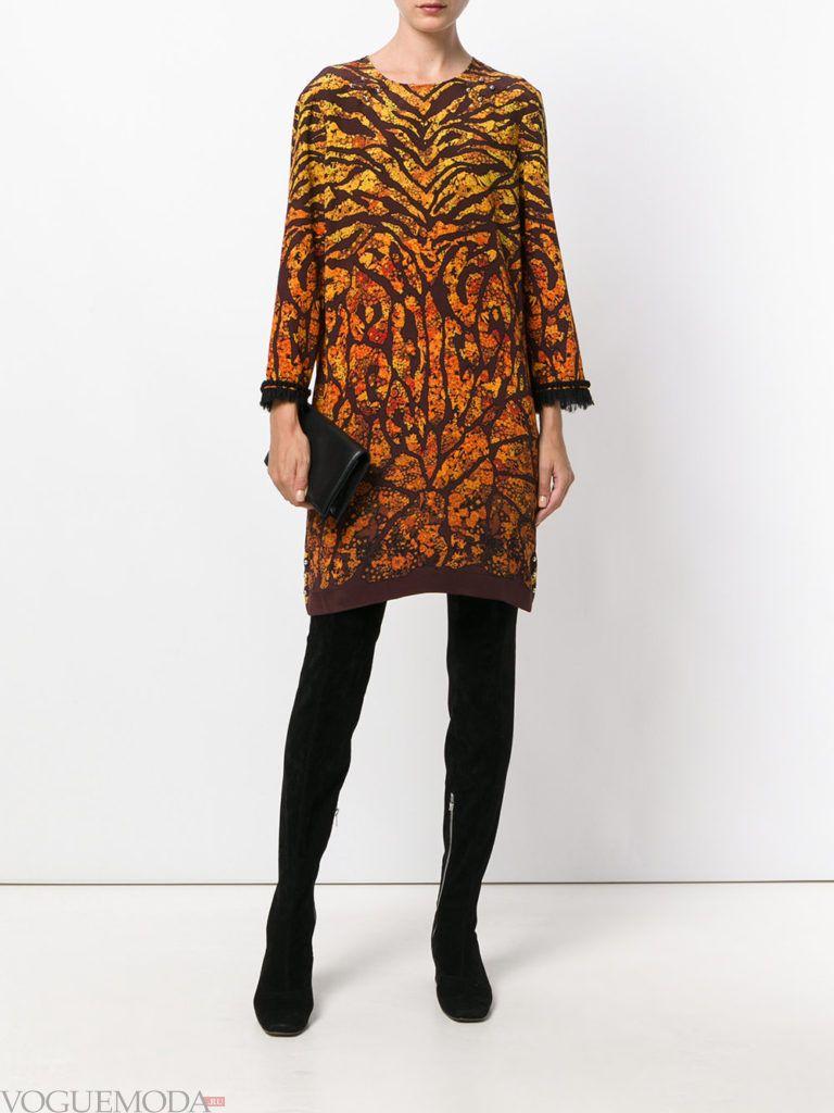 офисное платье с леопардовым принтом