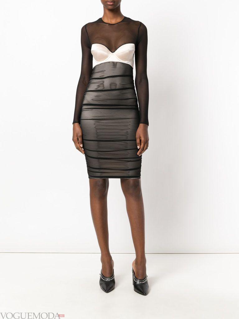 офисное платье-бюстье иодное