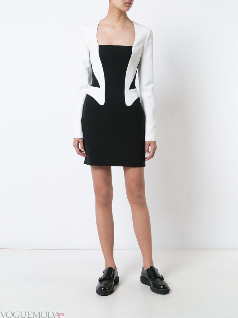 платье-пиджак двухцветное