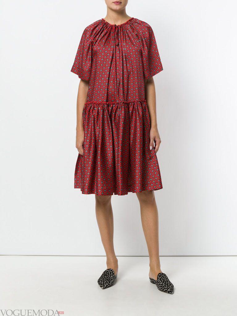 платье с юбкой-солнце цветное