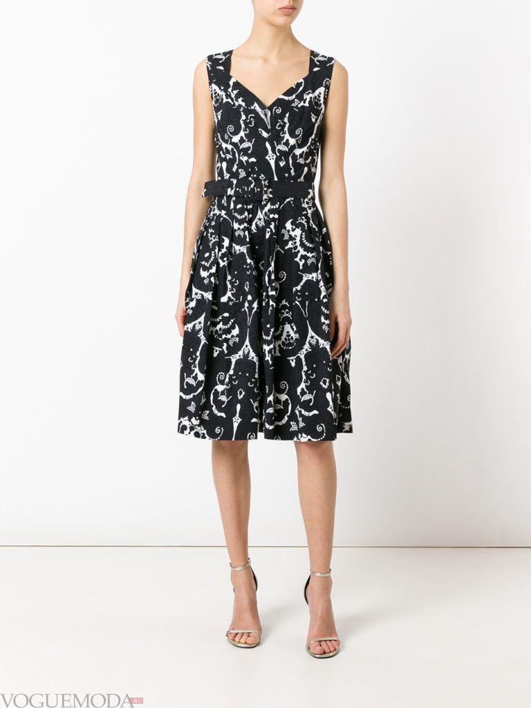 модное офисное платье темное