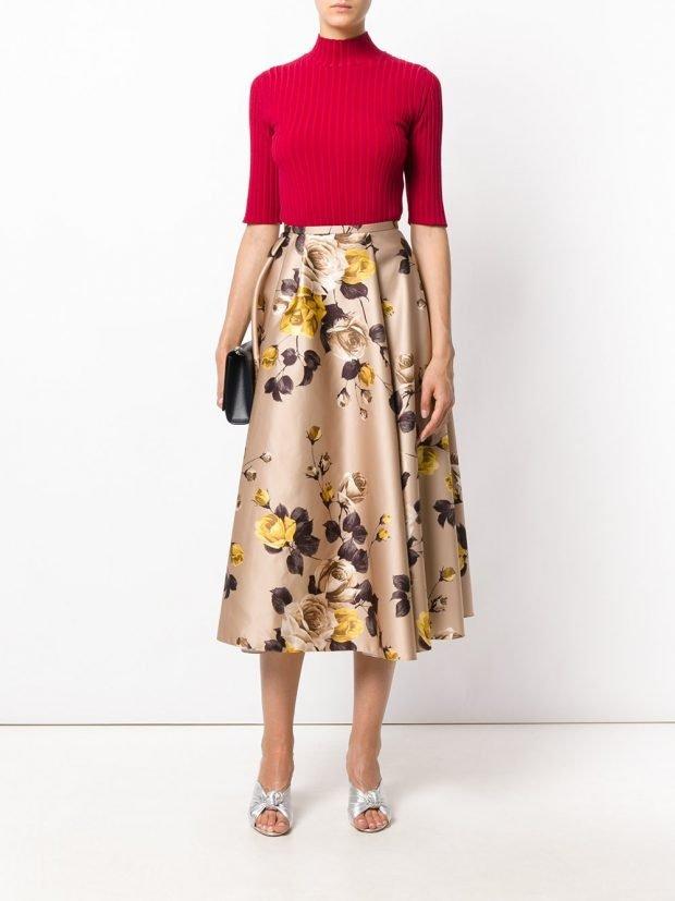 юбка с цветами модная