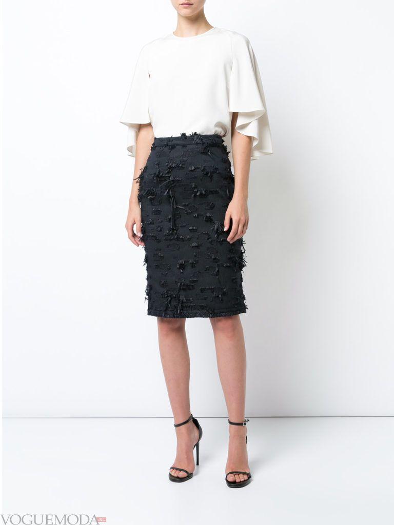 юбка-карандаш черная