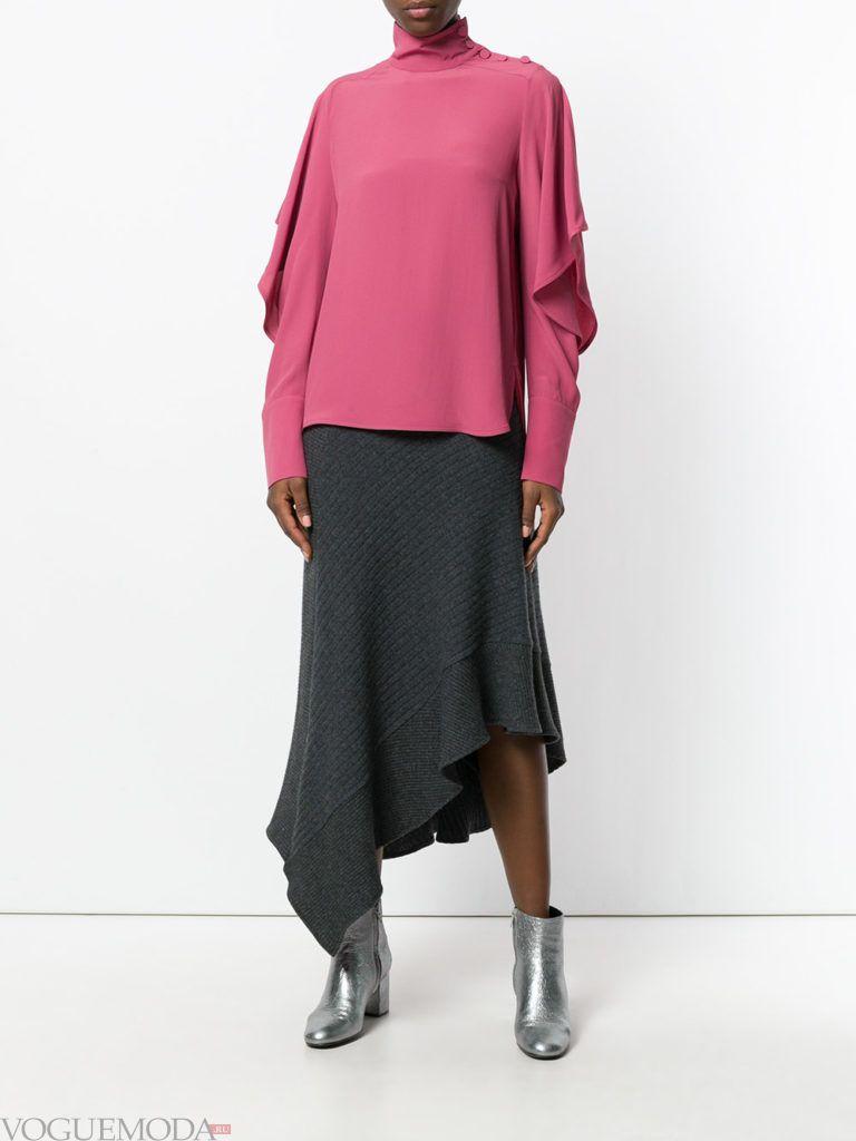 трикотажная юбка темная