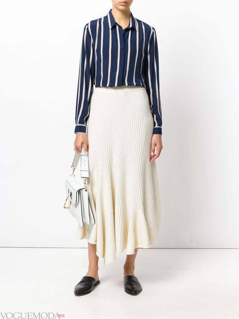 трикотажная юбка асимметричная