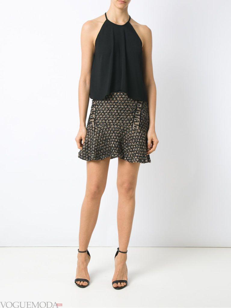 трикотажная юбка короткая
