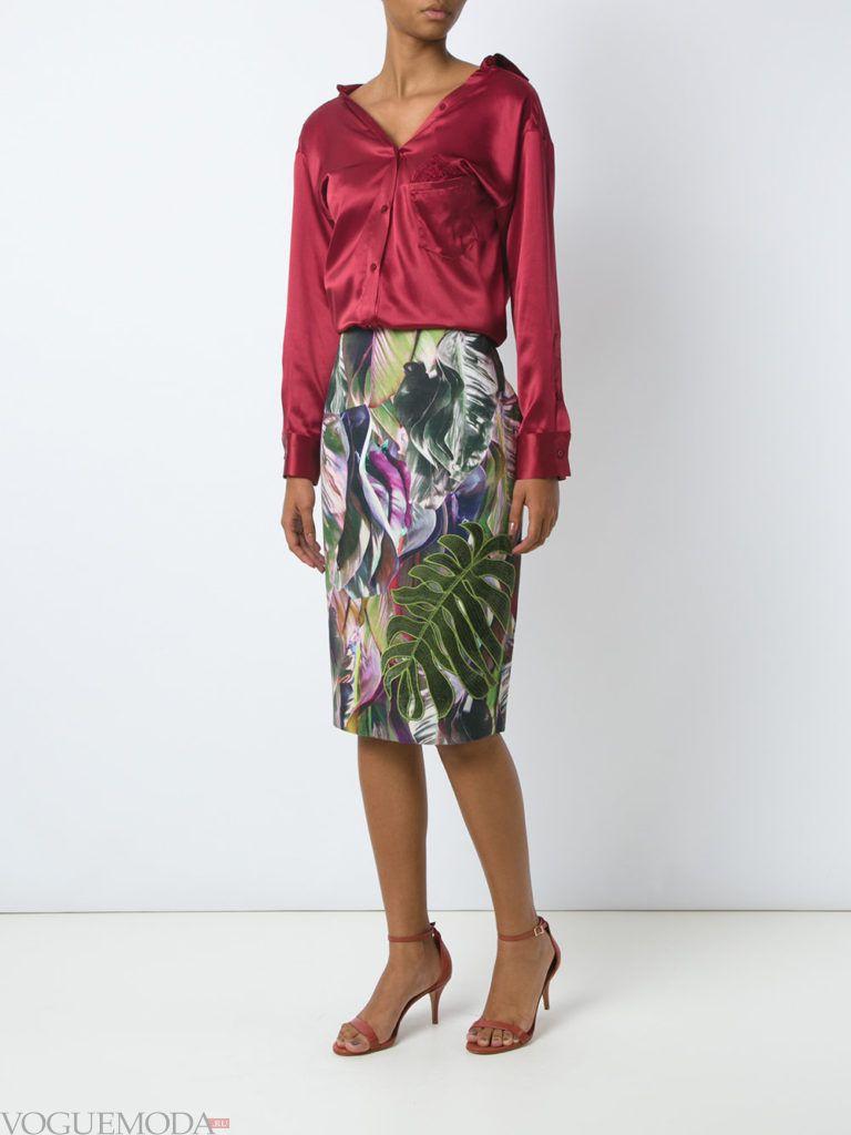 юбка-карандаш с рисунком