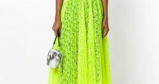 юбка плиссе лимонная