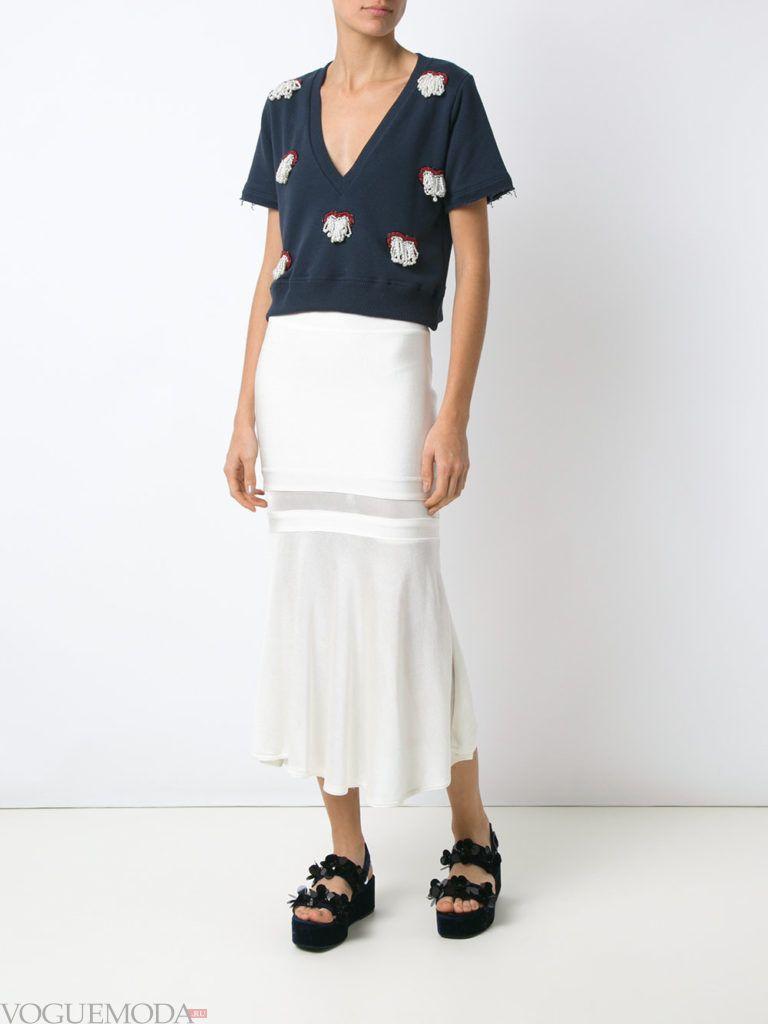 белая юбка прозрачная