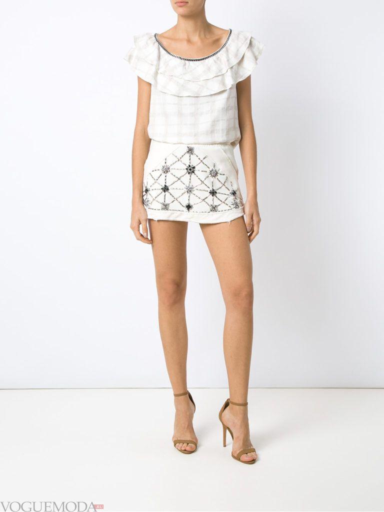 белая юбка короткая