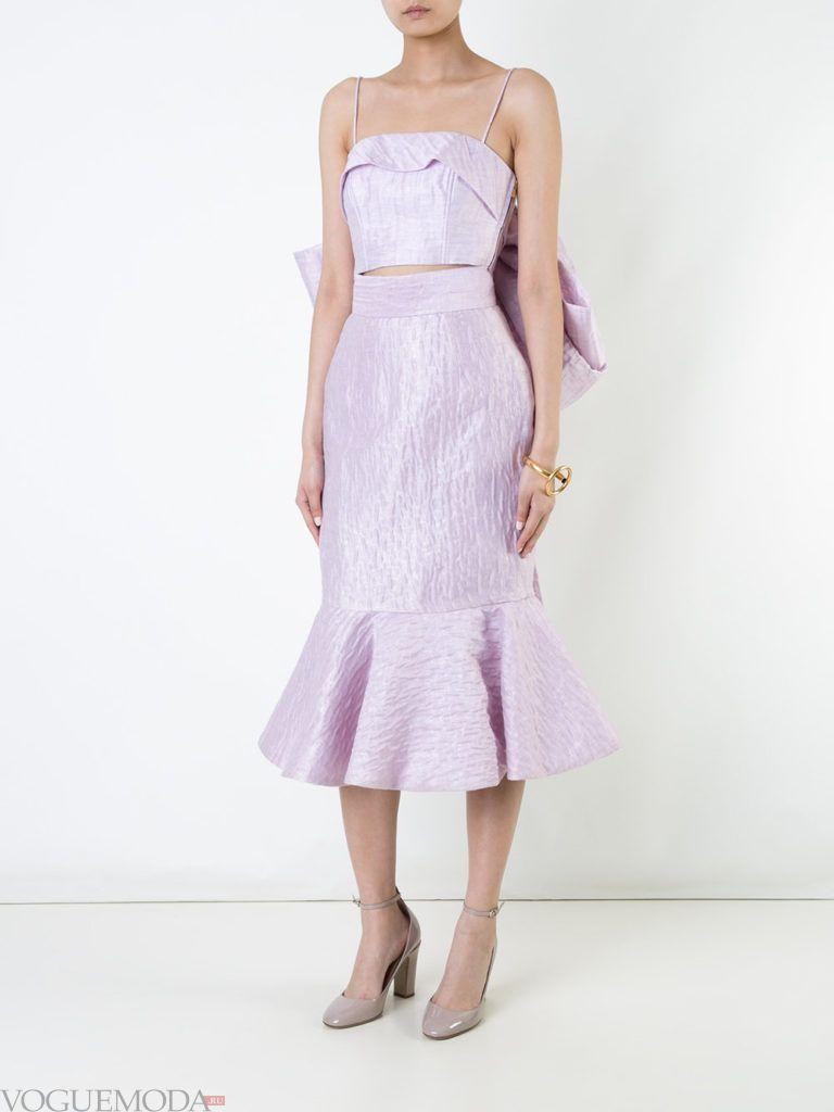 юбка годе фиолетовая