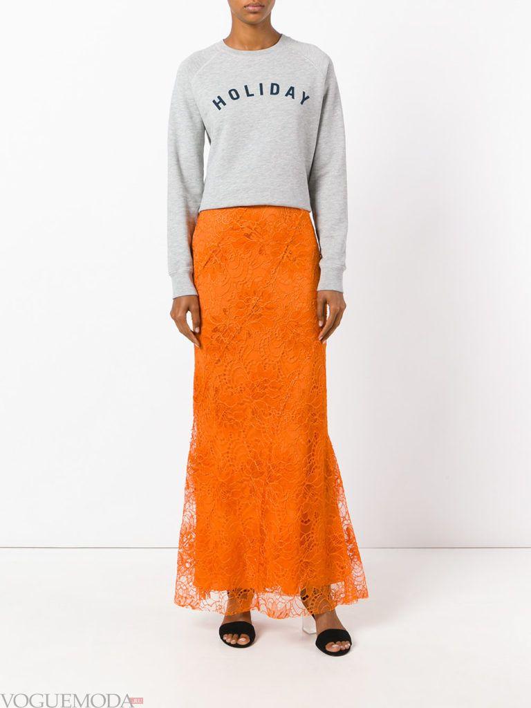 юбка годе оранжевая