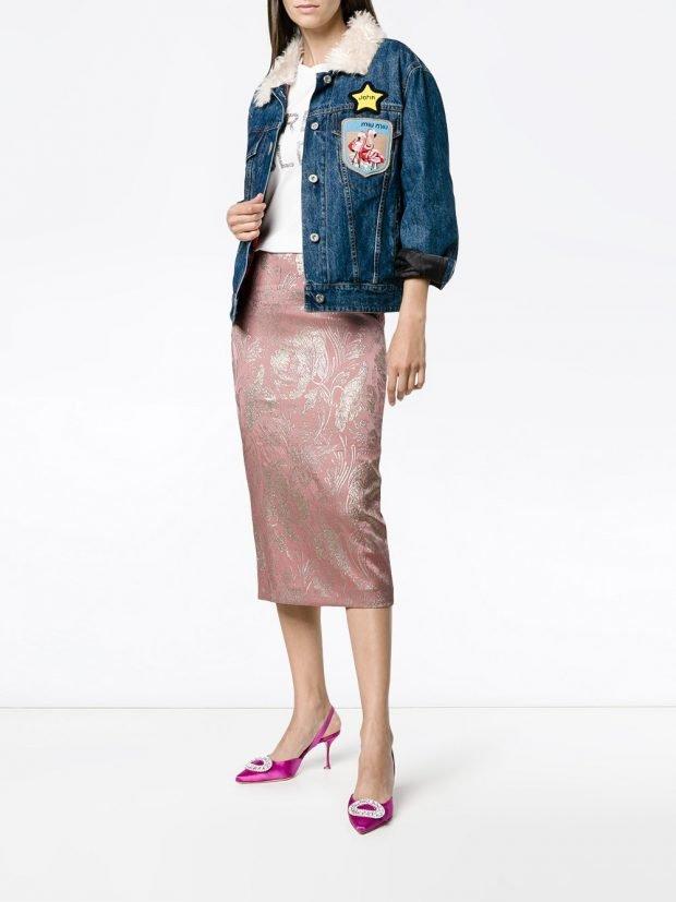 юбка-карандаш розовая
