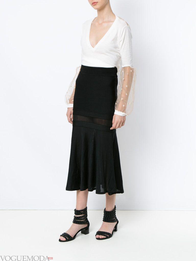 юбка годе черная