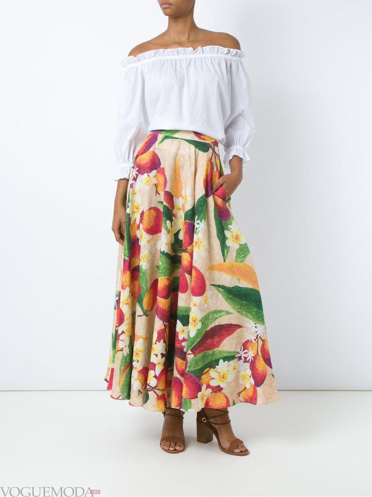 юбка солнце с принтом
