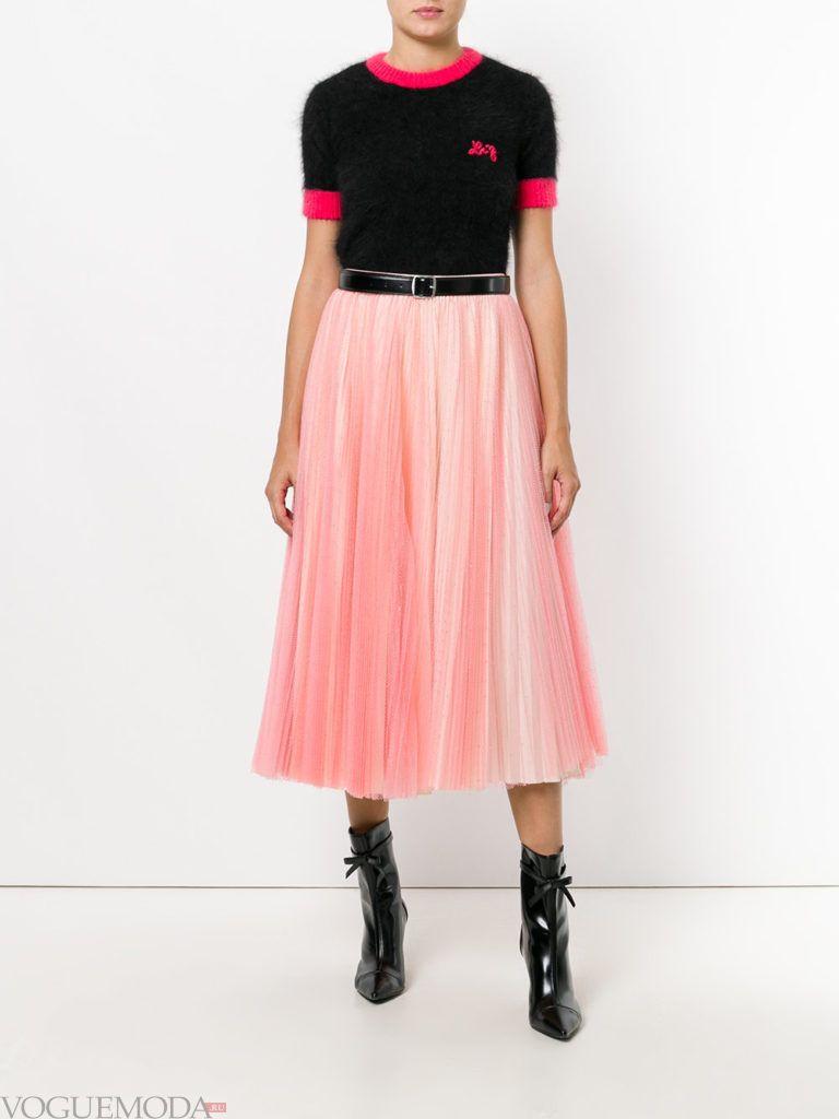 юбка солнце розовая