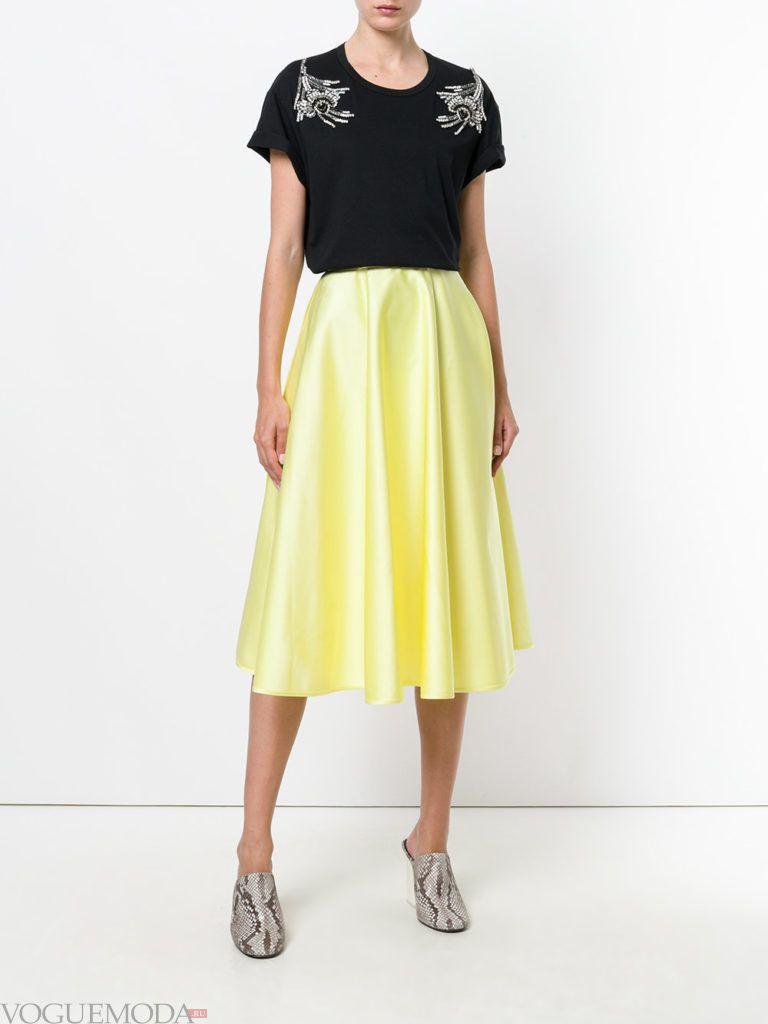 юбка солнце желтая