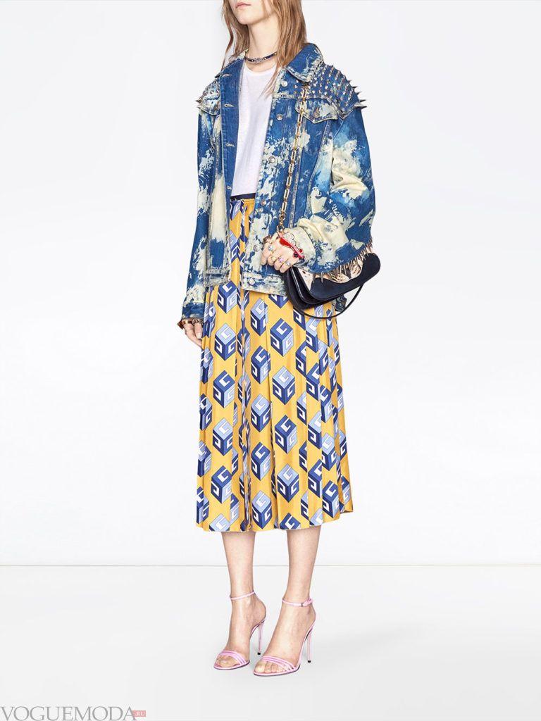 юбка весна-лето с принтом