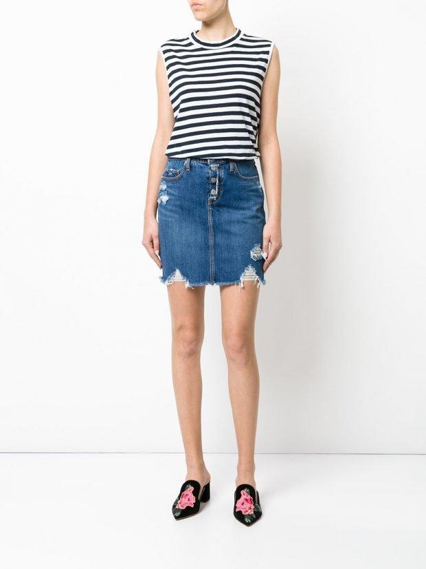 модные юбки весна-лето 2021: джинсовая