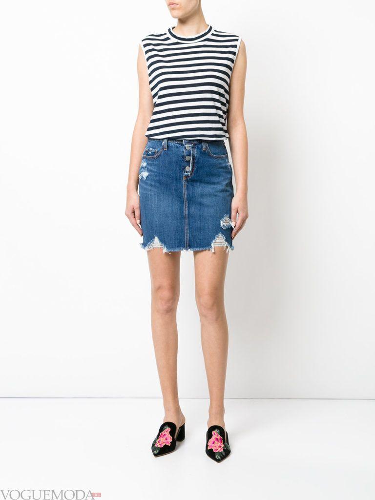 юбка весна-лето джинсовая