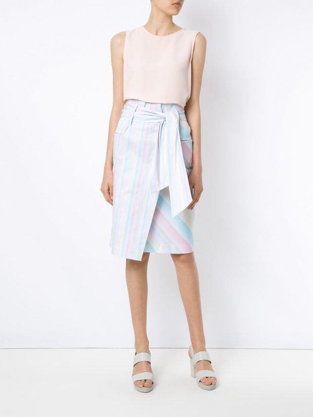 модные юбки весна-лето 2021: с поясом