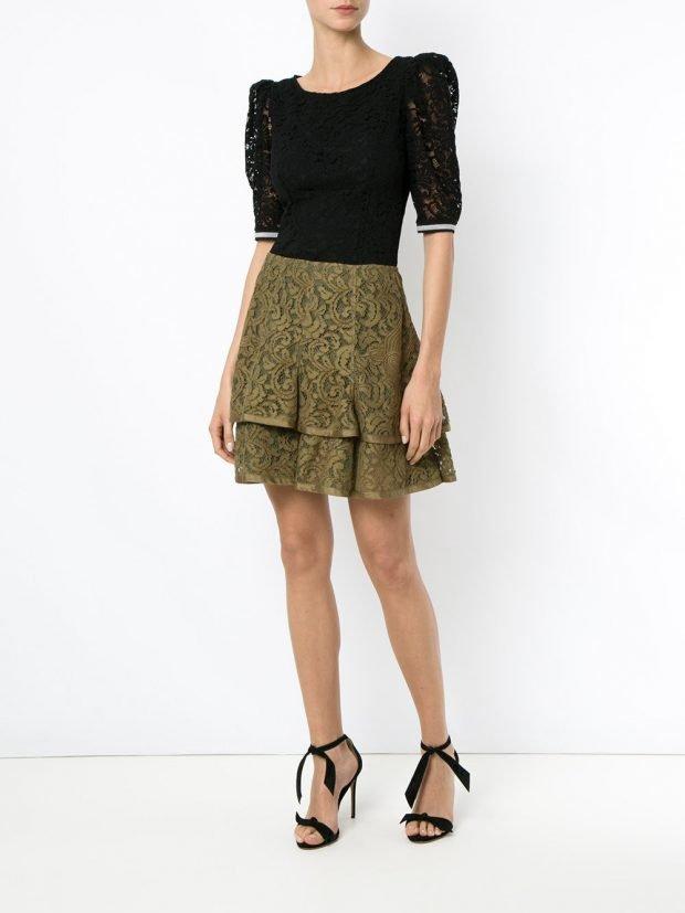 модные юбки весна-лето 2021: зеленая
