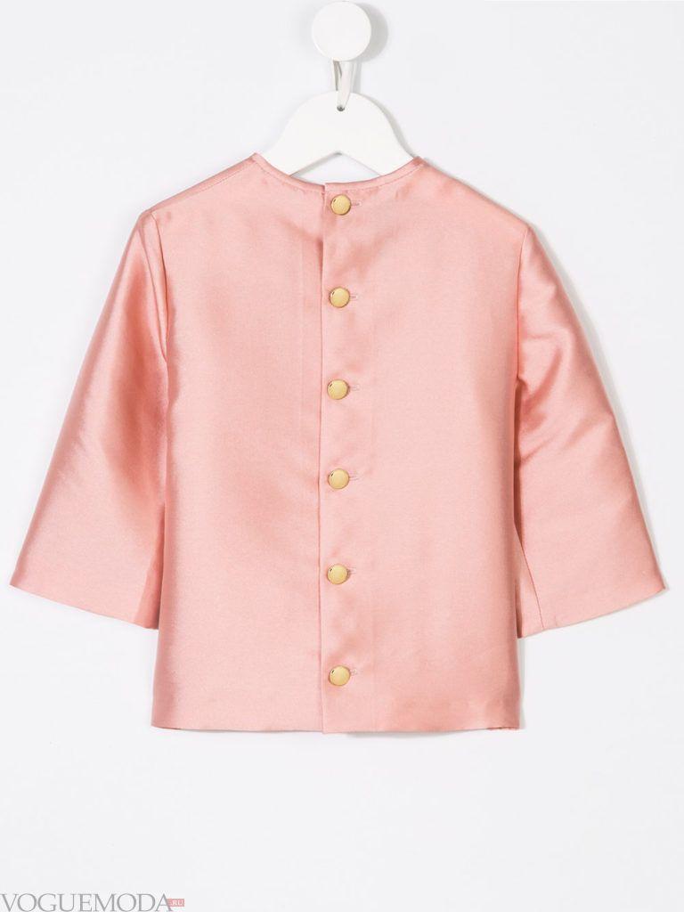детская шелковая блузка на пуговицах