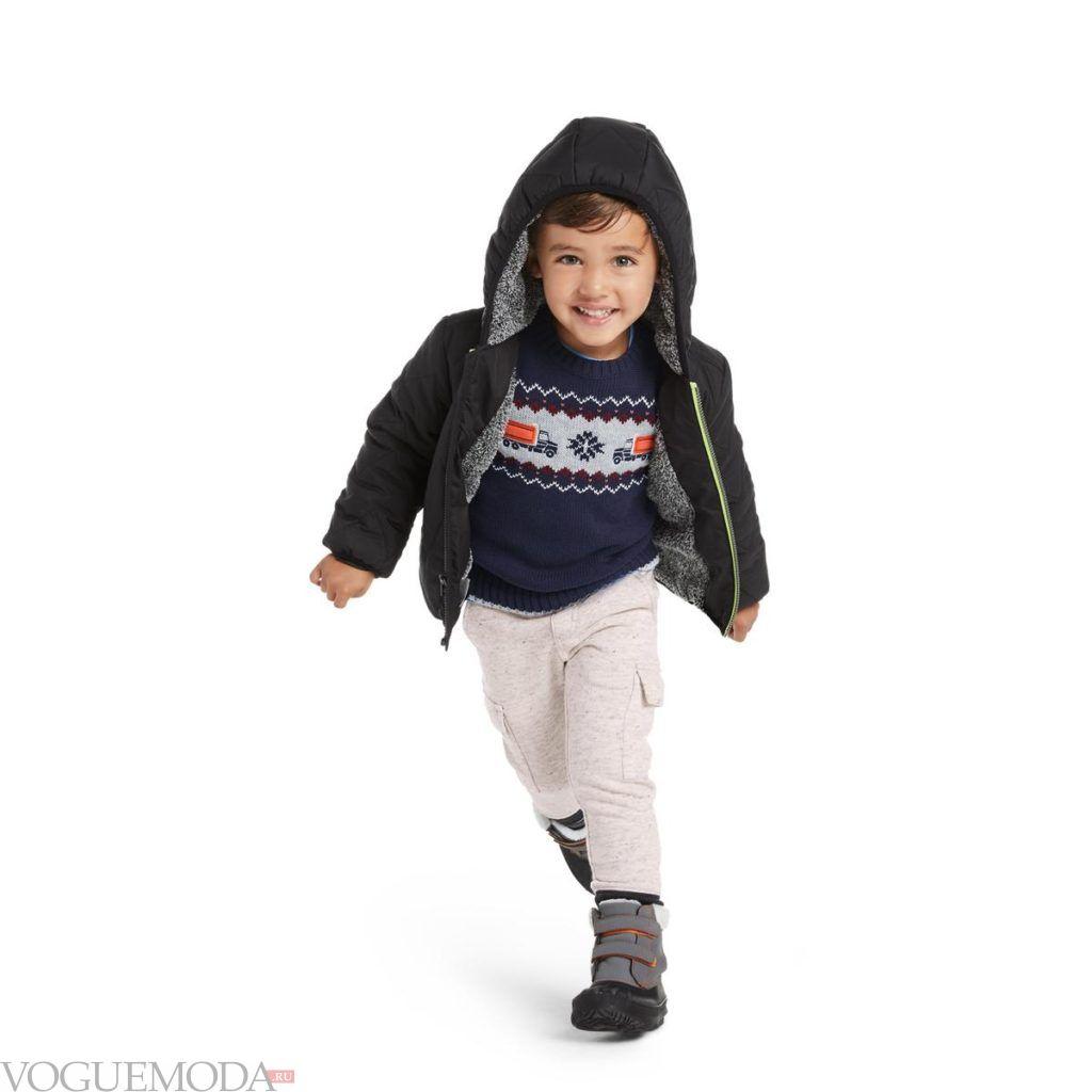 детский свитер и брюки зима