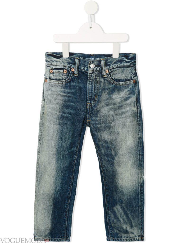 детские джинсы зима